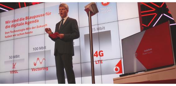 Vodafone-Chef Jens Schulte-Bockum auf der IFA 2014.