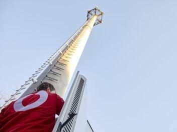 Ein Vodafone-Mobilfunksendemast