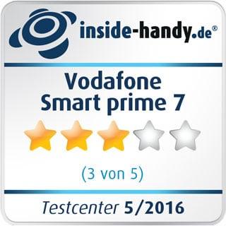 Testsiegel des Vodafone Smart prime 7