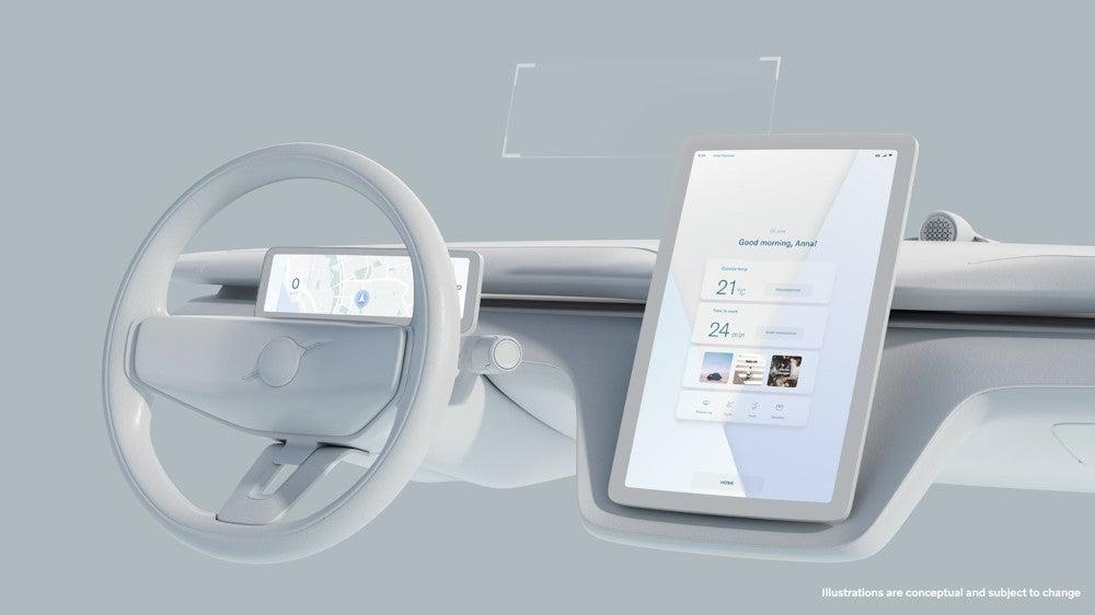 Volvo Concept Recharge Displays