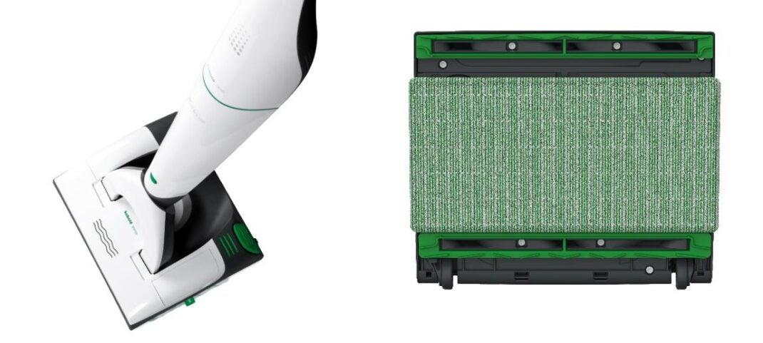 Der Kobold VB100 mit dem Akku-Saug-Wisch-Aufsatz SPB100