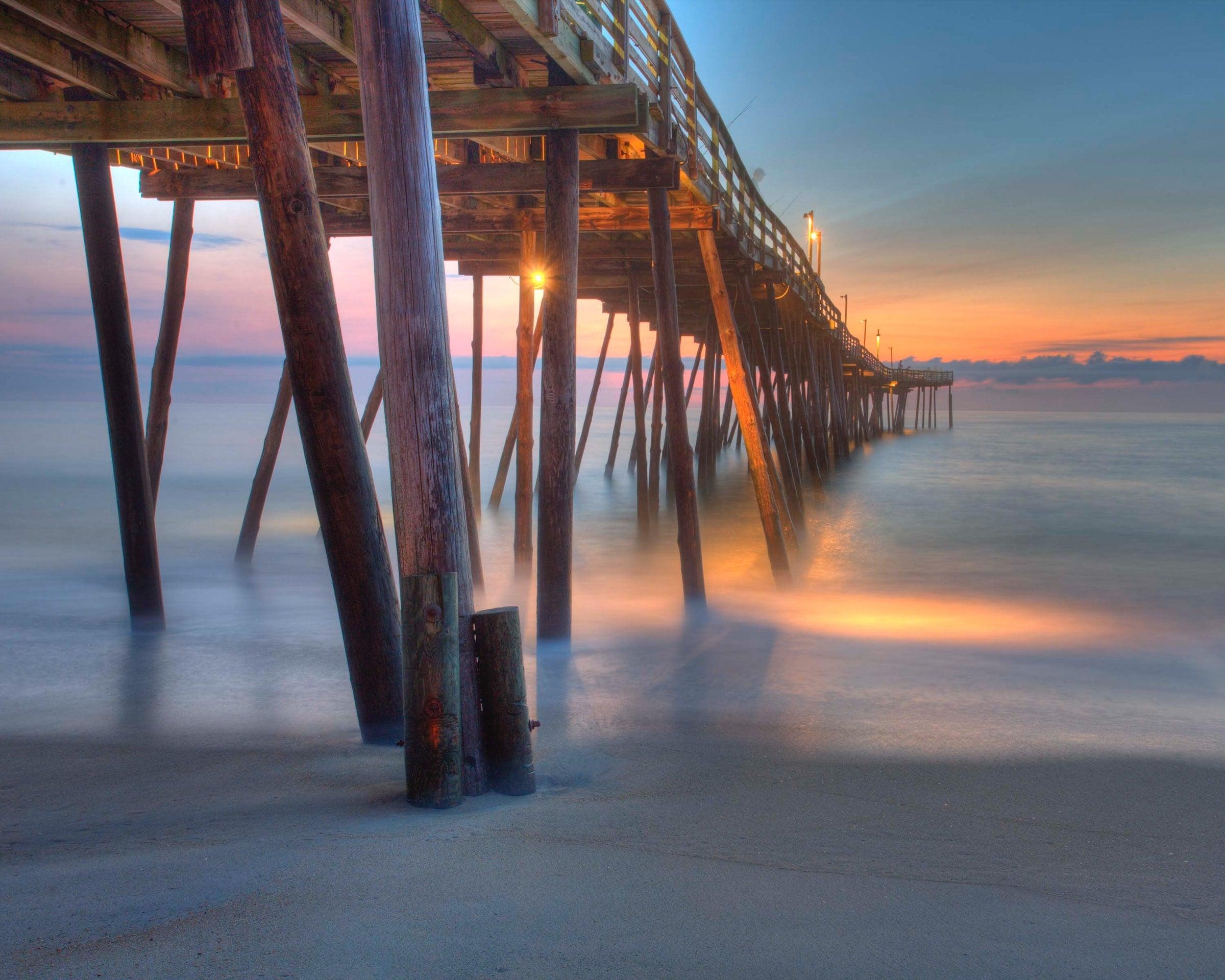 Weiches Wasser: Lange Belichtungszeiten erlauben dir, das Wasser ohne Wellen und mysteriös wirken zu lassen