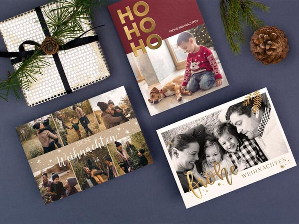 Weihnachtskarten mit eigenem Foto