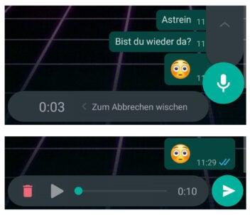WhatsApp Abhör-Trick: Sprachnachricht abhören