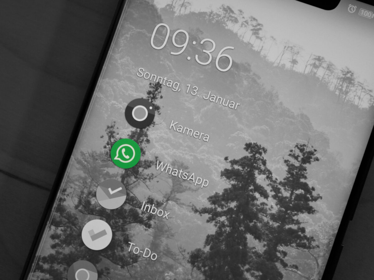 WhatsApp Icon auf Smartphone Homescreen
