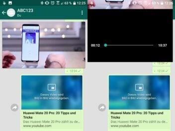 WhatsApps Bild-in-Bild-Funktion ist instabil