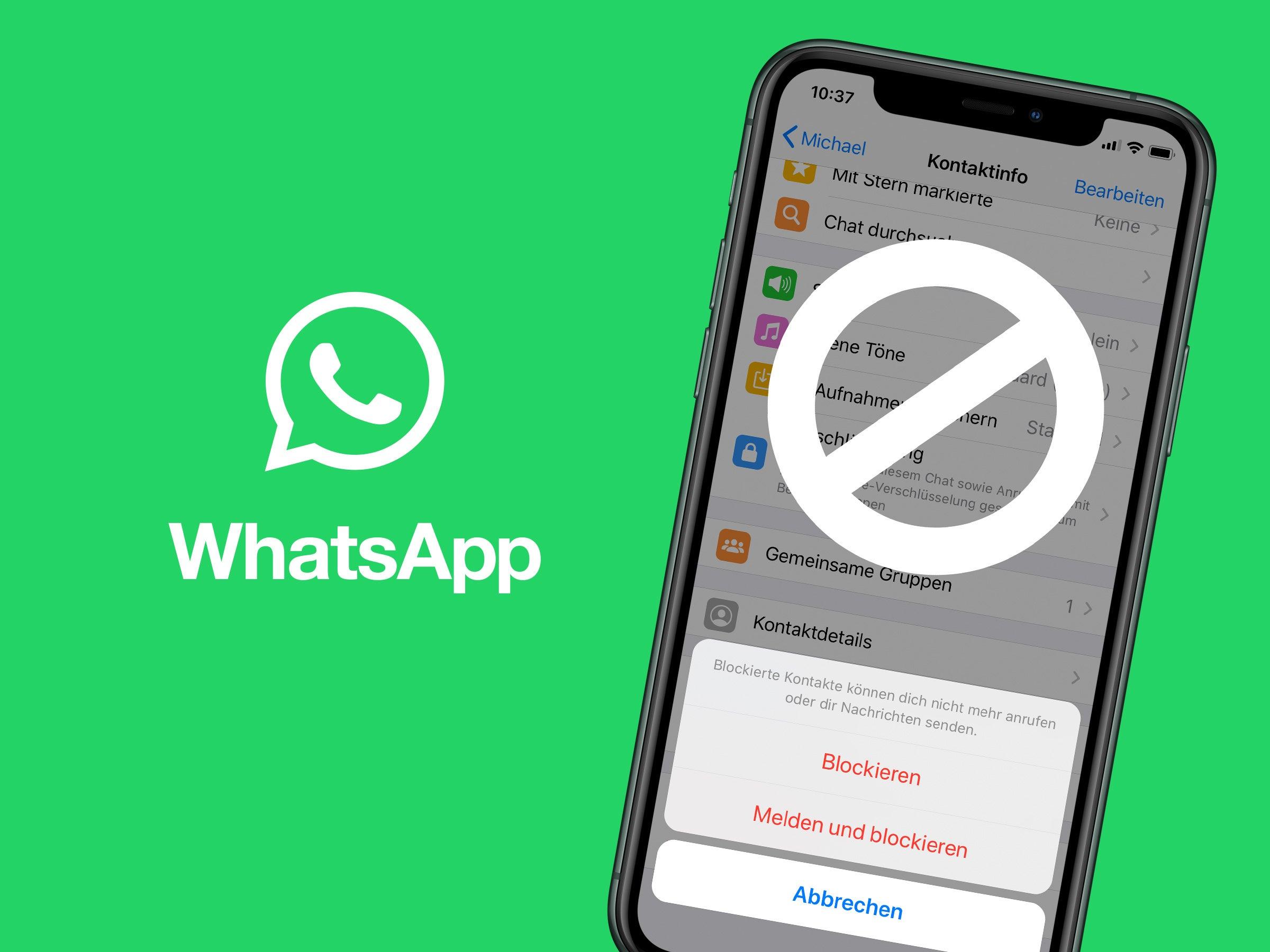 Whatsapp person blockieren nachrichten