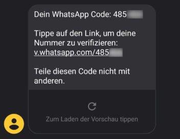 WhatsApp Code per SMS