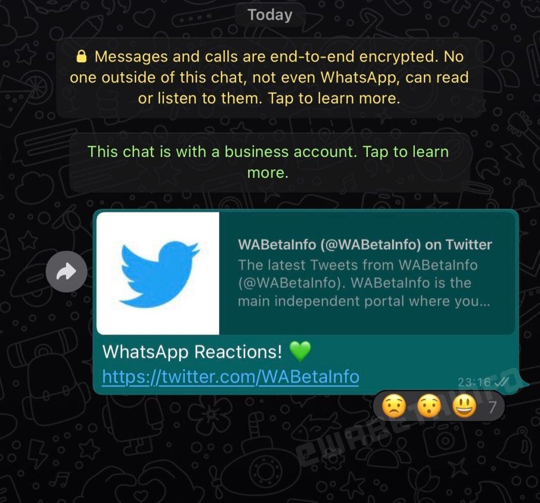 So sieht die neue Emoji-Funktion bei WhatsApp aus