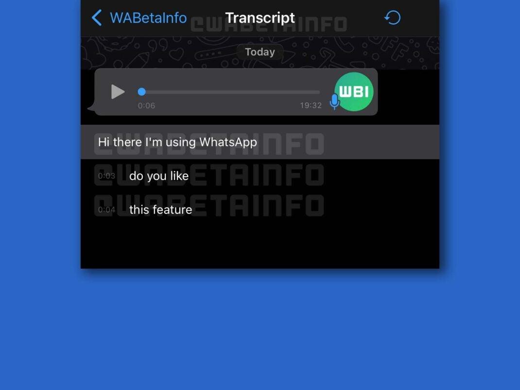 Der Inhalt einer umgewandelten Sprachnachricht erscheint in WhatsApp unterhalb der Mitteilung