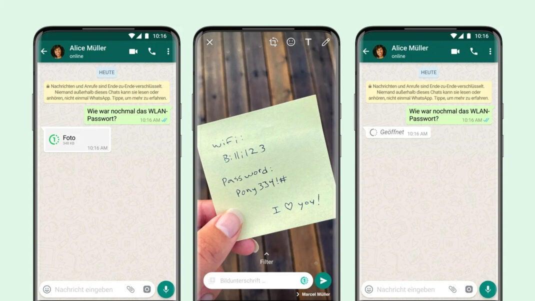 WhatsApp lässt deine Bilder verschwinden