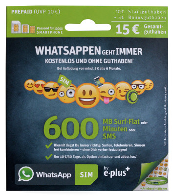 WhatsApp Preis24 Tarif E-Plus
