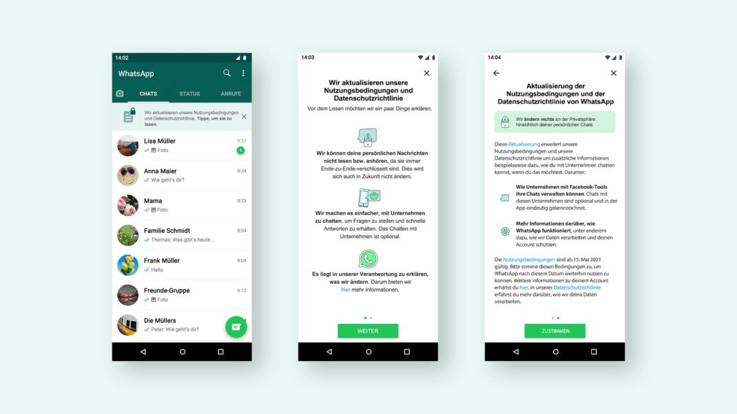 WhatsApp Banner neue Richtlinien