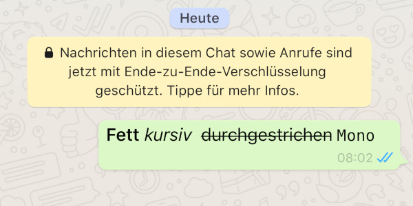 Whatsapp Text Formatieren