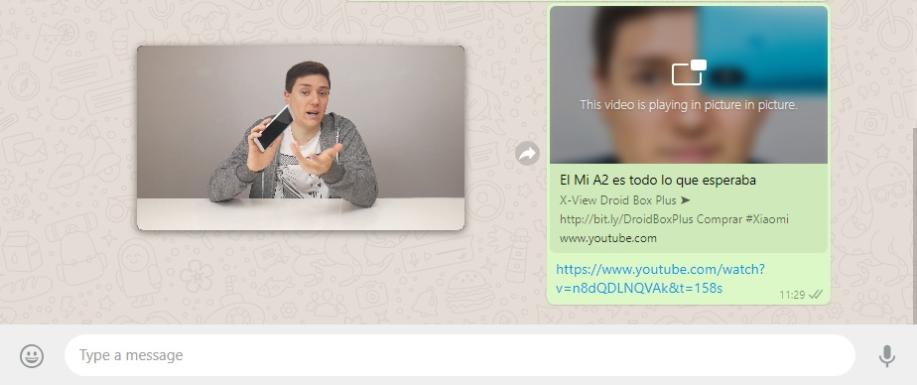WhatsApp Web mit Bild-in-Bild-Funktion