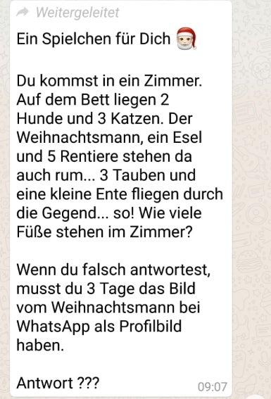 WhatsApp: Weihnachtsmann-Betrugsmasche