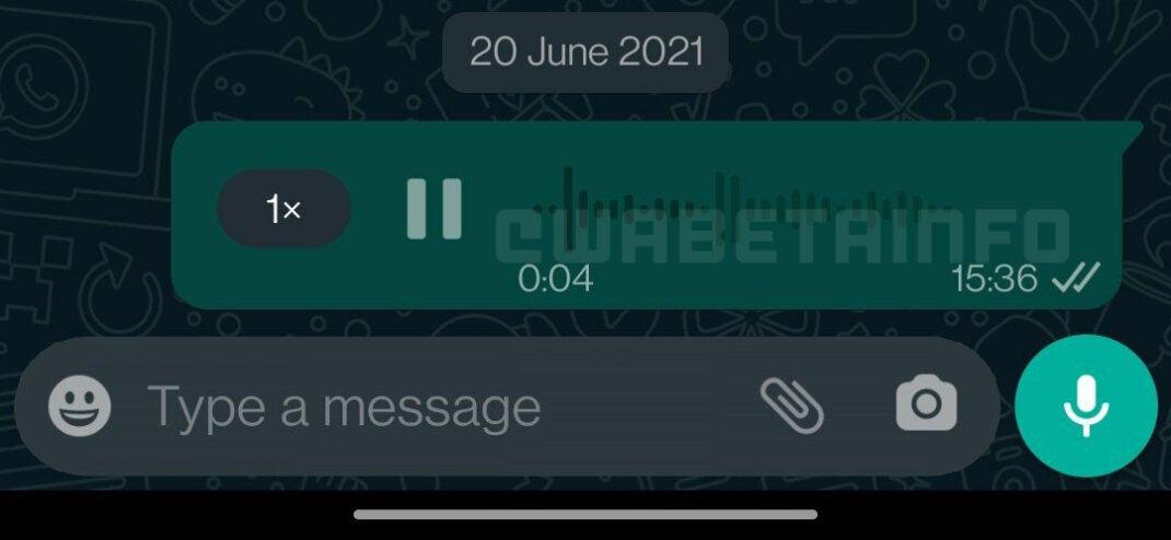 WhatsApp zeigt mit Wellenform in Sprachnachrichten, wie laut es wird
