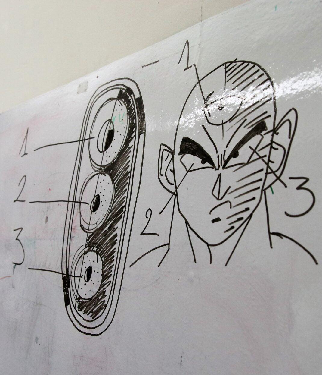 Comic-Zeichnungen im Wiko Headquarter