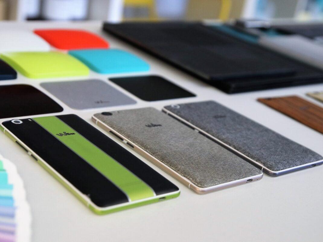 verschiedene Materialien von Smartphone-Prototyp