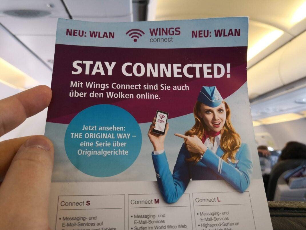Ein Info-Flyer zum Internet-Dienst Wings Connect