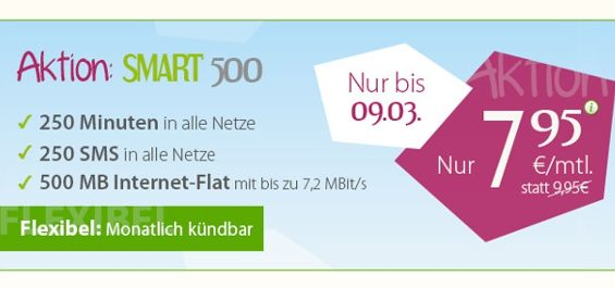 winSIM Aktion Tarif Flat 500