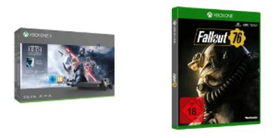 Xbox-Bundles-Verpackung Satr Wars und Fallout 76