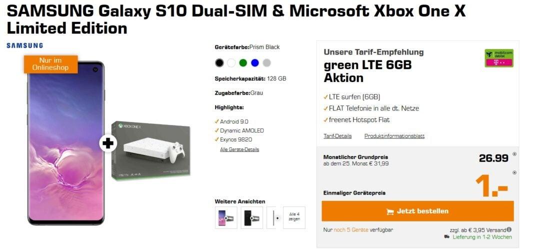 Galaxy S10 mit Xbox bei Saturn