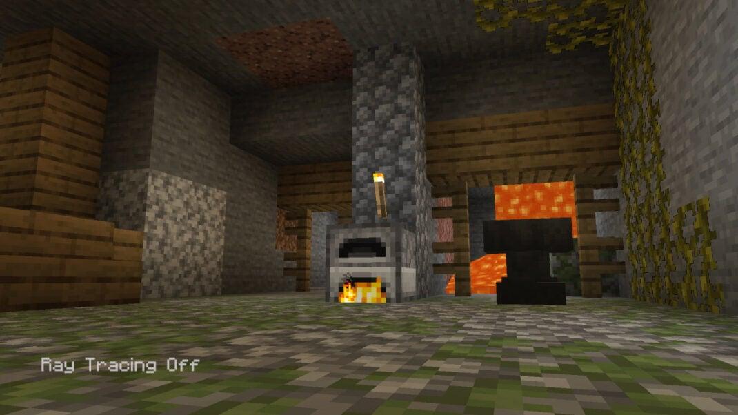 Minecraft auf der Xbox Series X ohne Raytracing