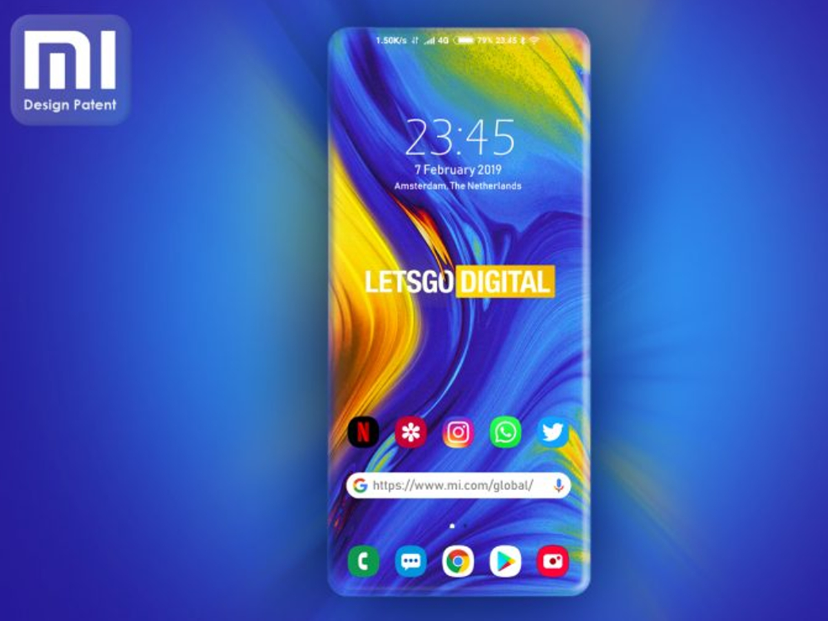 Ein Mock-Up des Display-Patent von Xiaomi