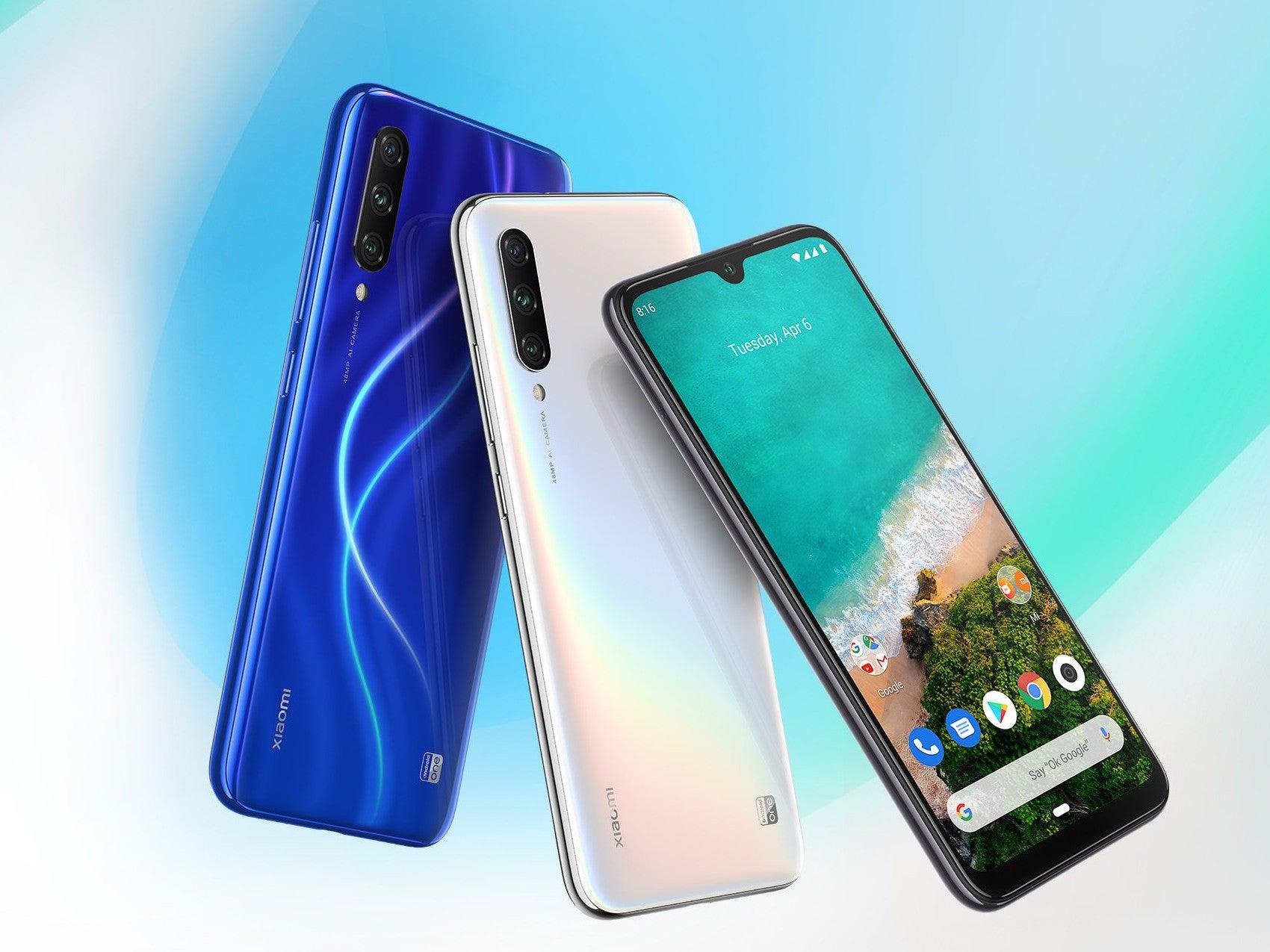 Xiaomi Mi A3 vor buntem Hintergrund