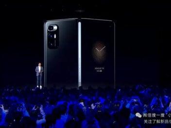 Xiaomi Mi Mix Fold lve auf der Bühne