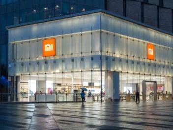 Xiaomi Mi Store in Nanjing bei Nacht