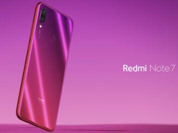 Xiaomi Redmi Note 7 mit Redmi-Schriftzug