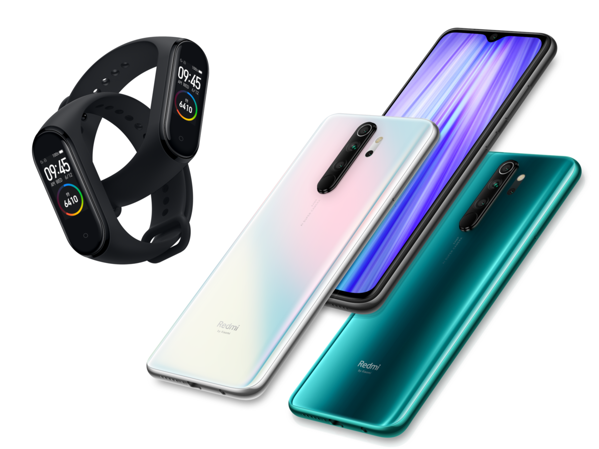 Xiaomi Redmi Note 8 Pro und Xiaomi Smart Band 4