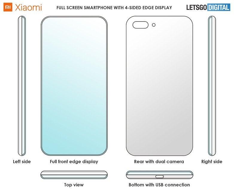 Die schematischen Zeichnungen des Design-Patents von Xiaomi