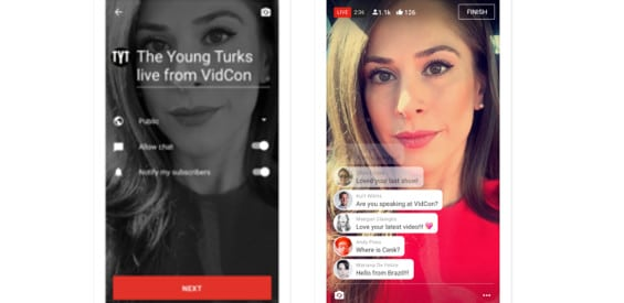 YouTube-App Live-Streaming