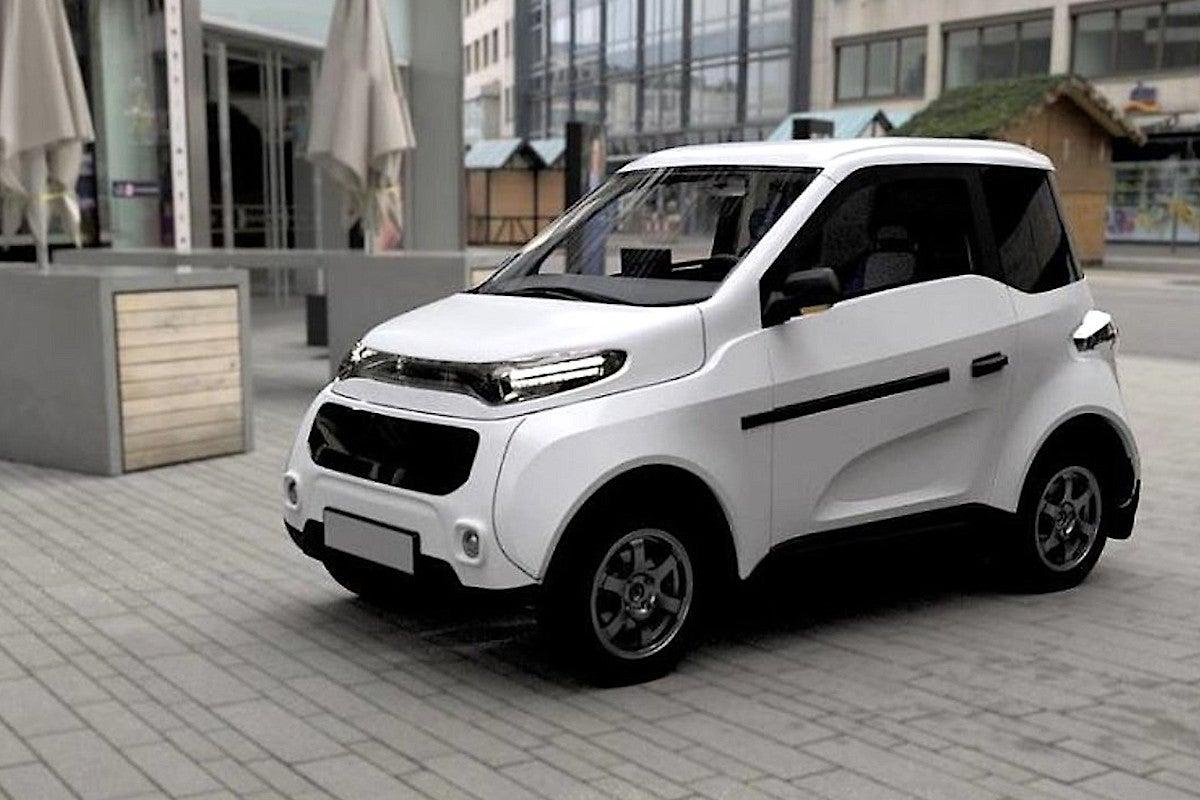 Zetta: weißes Auto in der Stadt