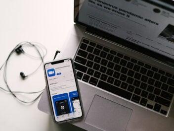 Zoom App auf einem iPhone
