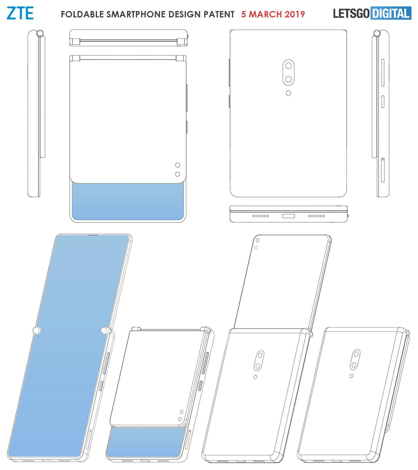 ZTE-Patent: Faltbares Smartphone