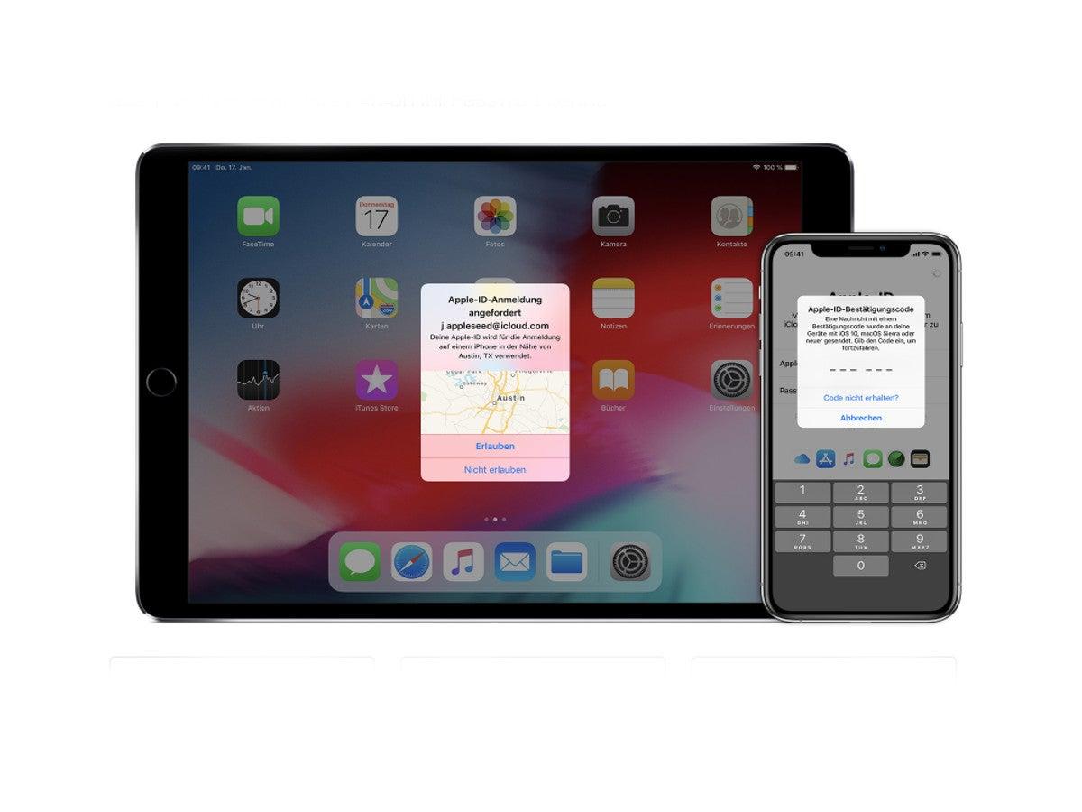 Zwei-Faktor-Authentifizierung Apple